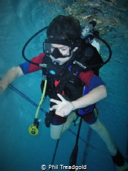 Its not in the sea! Its my little boy in the pool the oth... by Phil Treadgold