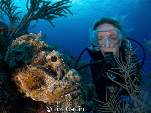 Sarah and the Scorpionfish by Jim Catlin