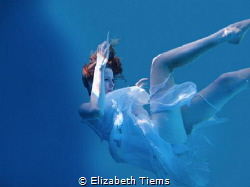 Taken in a pool, using scuba gear. Photoshop used to get ... by Elizabeth Tiems