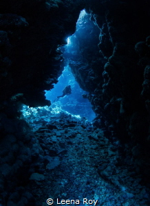 Caves at Fury shoal by Leena Roy