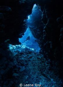 Caves at Fury shoal by Leena Roy