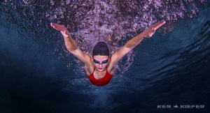 Only way to fly!  Beautiful Butterfly Stroke by Ken Kiefer