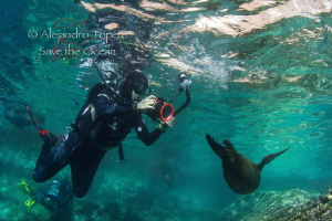 Vanessa with Sea Lion by Alejandro Topete