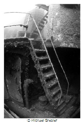 Stairs on the starboard side of the Niagara II sunk near ... by Michael Grebler