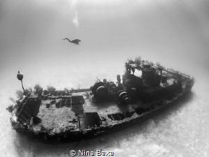 Wreck of the Doc Poulson. by Nina Baxa