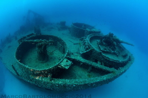 US Navy LST 349 wreck - Ponza Island - Italy by Marco Bartolomucci