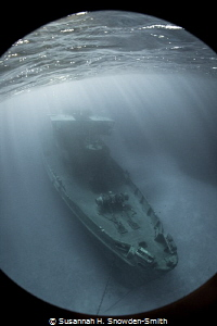 """Just Beneath The Surface""  Light rays stream down onto t... by Susannah H. Snowden-Smith"