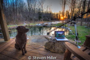 Backyard underwater photo studio. Tethered shooting with ... by Steven Miller