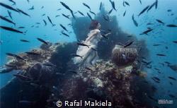 Underwater shooting on Uss. Liberty Wreck Dive, Tulamben.... by Rafal Makiela