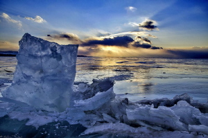 Baikal sunset by Mathieu Foulquié