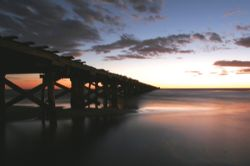 1 mile jetty sunset time lapse natual ligh canon 20D by Justin Bauer