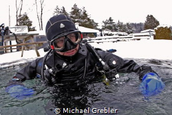 """This ice diver has just completed his """"bubble checks"""" wit... by Michael Grebler"""