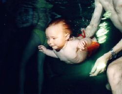 Happiness. Babyswimming. by Gyula Zombor