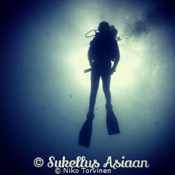 Morning dive at Victor's wall in Alcoy, Cebu. Edited photo by Niko Torvinen