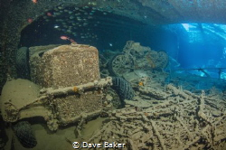 Bike and truck on the Thistlegorm in the northern red sea... by Dave Baker