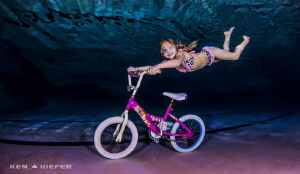 My crazy niece trying out for Underwater X-Games :) by Ken Kiefer