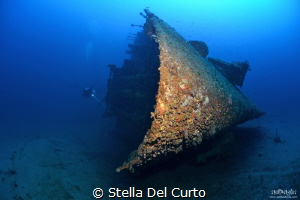 """Isonzo wreck"" - Ship sunken the 10 april 1943 torpedoed ... by Stella Del Curto"