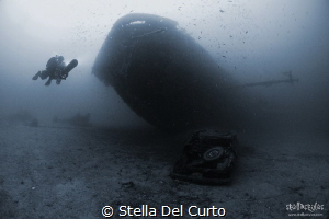 """Prow in backlight"" - Wreck of Nasim (from 45 till 60 met... by Stella Del Curto"