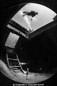 """""""Inside Looking Out""""  Doc Polson shipwreck, Grand Cayma... by Susannah H. Snowden-Smith"""