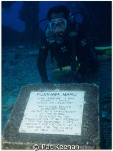 Exploring Truk Wrecks. One of the more interesting wrecks... by Pat Keenan