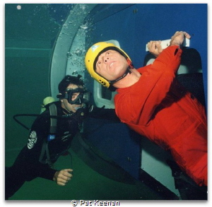 Helicopter Underwater Escape Training (HUET) is vital tra... by Pat Keenan