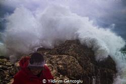 Blacksea coast of Istanbul in a stormy weather. We get we... by Yildirim Gencoglu