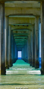 Scripps pier by Morgan Ashton