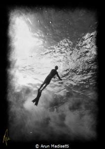 somewhere in deep water, Freedom! by Arun Madisetti