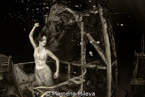 The restlessness of a condemned soul. by Plamena Mileva