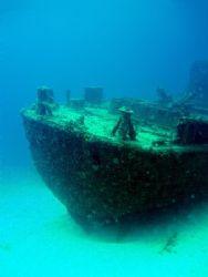 Wreck of the Cathryn. Ocho Rios, Jamaica. Olympus mju 410... by Steve Laycock
