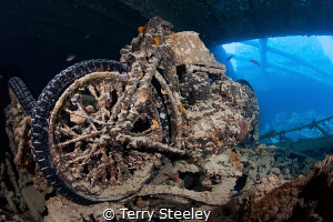 BSA Motorbike in SS Thistlegorm Red Sea, Egypt — Subal... by Terry Steeley