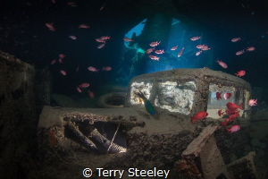'Julian's truck, lower deck of the SS Thistlegorm.' Red ... by Terry Steeley