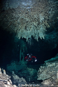 Fireworks on the ceiling - Nohoch Nah Cich cave, Mexico by Stella Del Curto