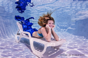 Senior pictures for a high school swimmer...  Just relaxi... by Ken Kiefer