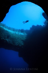Snorkeler at the Blue Hole | Gozo, Malta by Joanna Lentini