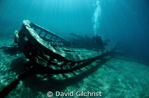 Wreck of the 'Alice G', Fathom Five National Marine Park,... by David Gilchrist