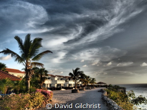 View at the Marazul Dive a Resort, Curacao. by David Gilchrist