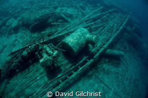 A view of the wreck of the 'Alice G', Tobermory, Ontario by David Gilchrist