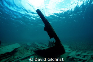 Remains of the bow of tug in Little Tub Harbour, Tobermor... by David Gilchrist