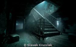 Stairs at MV Karwela in Gozo/Malta by Slawek Kruzolek