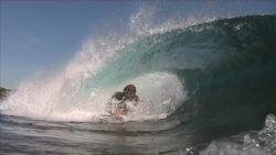 sometimes shallow means more fun.Surfer-Tim Archer at mou... by Andrew Grattidge