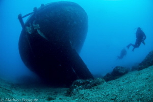 come to Costa Brava ! (Boreas wreck, Palamos) by Mathieu Foulquié