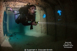A diver models for me inside the Prince Albert shipwreck ... by Susannah H. Snowden-Smith