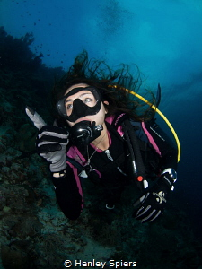 Diver Points to the Unknown by Henley Spiers