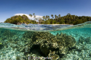 Island Split, Raja Ampat by John Parker