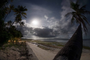 Night becomes day. Full moon long exposure. by James Deverich