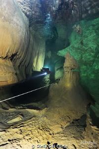 """""""Light in the dark"""" - Bue Marino cave, Sardinia, Italy by Stella Del Curto"""