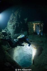Tuna-Hästberg mine diving in Sweden. Two AGIR 500W LEDs ... by Erik Rådström
