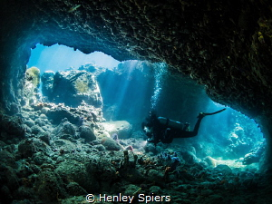 'Looking for Love' My buddy explores a cavern we have na... by Henley Spiers