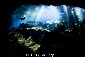'Descending into the unknown' —  Subal underwater housi... by Terry Steeley